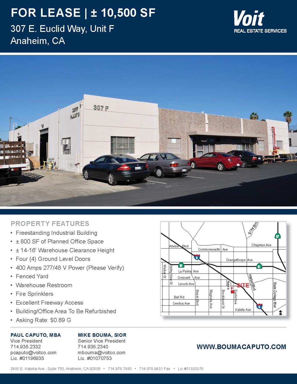 307 E. Euclid Way #G Anaheim, CA 92801